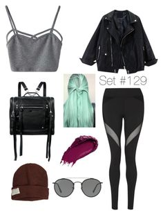 """""""No Name"""" by emma-natalie ❤ liked on Polyvore featuring WithChic, Michi, Krochet Kids, McQ by Alexander McQueen, Urban Decay and Ray-Ban"""