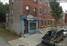 "Potts Ice Cream - Brandywine street / North 39th street, Philadelphia /  39°57'45.27""N 75°11'58.42""W (Google Earth Street View)"
