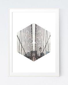 Bridge Photo Print Geometric Bridge Wall Print by SutilDesigns