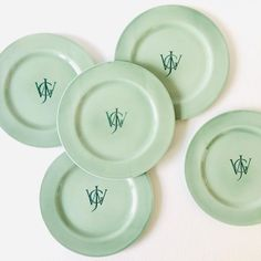 Roman Letters, Table Settings, Hand Painted, Plates, Monograms, Tableware, Fonts, Instagram, Lab