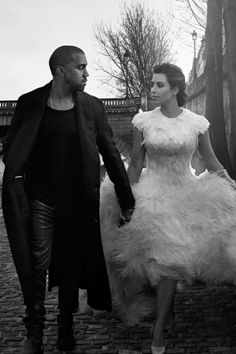 Kim Kardashian, Kanye West for Vogue US by Annie Leibovitz.