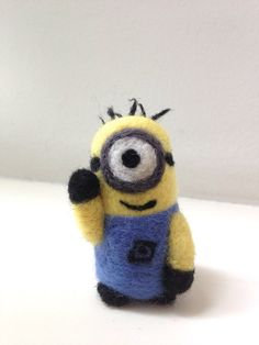 so cute!!!     Needle Felted Despicable Me Minions Handmade Home Decor on Etsy, $15.00