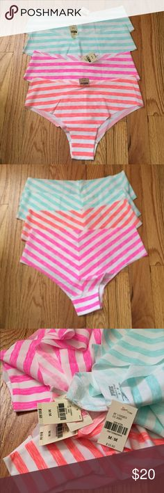 NWT VS PINK Panty Bundle of 4 M NWT. Size medium. No show panties. Bundle of 4. PINK Victoria's Secret Intimates & Sleepwear Panties