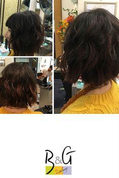 Taglio molto versatile, che permette di sbizzarrirsi con diversi styling e donare un effetto voluminoso attraverso la scalatura. #SaloneB&G #Parrucchieri #Firenze #Acconciature #Capelli #CuradeiCapelli