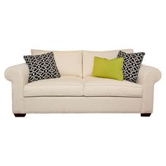 Featuring foam cushions and 3 complementing accent pillows, this charming sofa brings fresh style to your decor.  Product: Sofa ...
