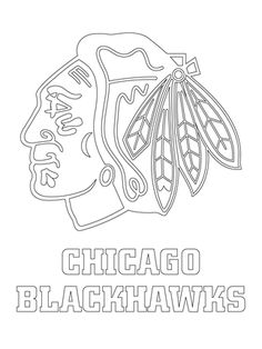 chicago blackhawks logo coloring page