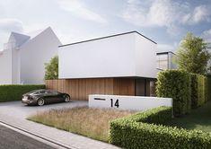 villa L & V, Lichtervelde - Ai & M - Architecture - Arquitectura Architecture Durable, Modern Architecture House, Residential Architecture, Modern House Design, Architecture Design, Design Exterior, Facade Design, Arch House, Facade House
