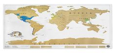 Scratch Off Map Poster Scratch Map is brilliant! Its the perfect way to show off where you'vebeen travelling while livening up your wall with a colourful world map.Scratch Map is an amazingly high quality, uber-massive wall map,featuring a gold top foil l Valentine Day Gifts, Holiday Gifts, Christmas Gifts, Christmas Things, Christmas 2014, Christmas Ideas, Traditional Artwork, World Map Poster, Presents For Boyfriend