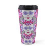 Crochet Sugar Skull. Travel Mug