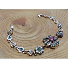 Emerald Ruby Stone Silver Women Bracelet www.hanedansilver.com #Roxelana #East #Market #Hurrem #Jewellers #Silver #Earring #Jewelers #Ottoman #GrandBazaar #Earring #Silver #Pendant #Silver #Bracelet #Anadolu #Schmuck #Silver #Bead #Bracelet #East #Authentic #Jewelry #Necklace #Jewellery #Silver #Ring #Silver #Necklace #Pendant #Antique #istanbul #Turkiye #Reliable #Outlet #Wholesale #Jewelry #Factory