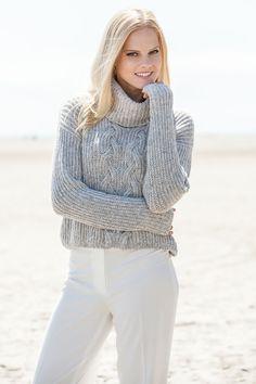 Lana Grossa PATENT-PULLI MIT ZOPFMUSTER AM Superbaby Fine - FILATI Handstrick No. 57 (Herbst/Winter 2014/15) - Modell 11 | FILATI.cc WebShop