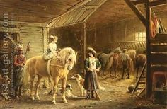 In The Stables Of The Circus, by Otto Eerelman