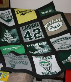 A League of Her Own: DIY: T-Shirt Quilt