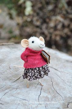 Coquet petit souris  Needle Felted ornement  par feltingdreams, $88.00