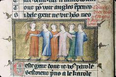 Carole de Déduit - Roman de la Rose de Guillaume de Lorris et Jean de Meun - Châlons-en-Champagne - BM - ms. 0270 f. 006v - vers 1340-1350