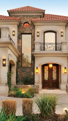 40 most inspiring your modern dream house exterior design ideas 26 Classic House Exterior, Classic House Design, House Front Design, Dream House Exterior, Dream Home Design, Modern House Design, Country Home Design, Style At Home, Style Toscan