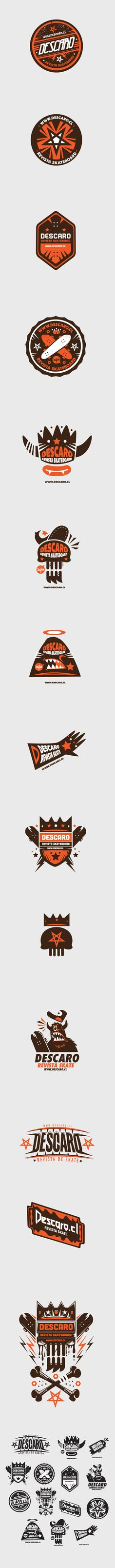 Logo collection Descaro skate Magazine by New Fren, via Behance