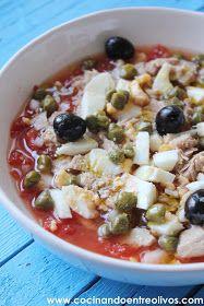 Cocinando entre Olivos: Ensalada murciana, receta paso a paso y el reto El asalta blogs.