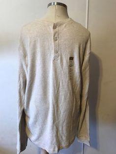 NWT FOUNDRY SUPPLY CO Mens Pullover Henley Long Sleeve Shirt Oatmeal 2XLT Ecru #Foundry #Henley #FoundrySupplyCo #Pullover #Mens #Men #LongSleeve #2XLT #BigTall #Oatmeal #ecru