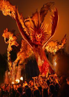 Beltane Fire Owl Spirit by Ian at Deviant Art. Image includes photos taken at Edinburgh Beltane Fire Festival. Beltane, Owl Sketch, Le Tarot, Fire Festival, Celtic Mythology, Summer Solstice, Holiday Time, Occult, Archaeology