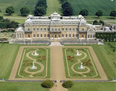 Wrest Park, Bedfordshire, England. Beautiful formal Baroque gardens, the house was built in the 1830s. Open to the public