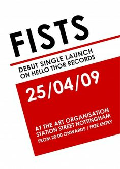 Fists single launch poster by Pete Conway - www.idressmyself.co.uk
