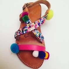 Handmade leather sandals for kids By Bliss Follow us in Facebook Greek Designer