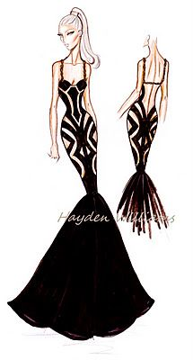 Hayden Williams Fashion Illustrations: Hayden Williams Haute Couture Spring-Summer 2012: Front & back detail