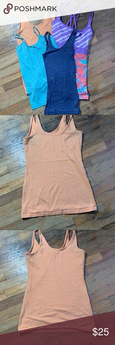 NEW Orange Sports Stretchy Cotton Built in Support Layer Tank Top Size 10-18 A10