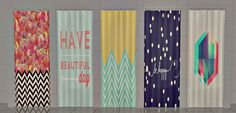 Sims 2 Creations by Tara: Shower Curtains Pt III