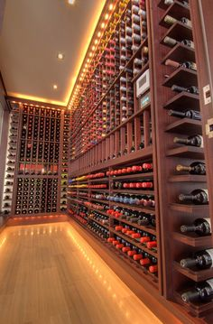 Would love a room in the house like this. WINE EVERYWHERE