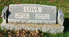 Western Kentucky Genealogy Blog: Tombstone Tuesday - Arris K. and Adiline Love #genealogy