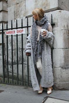 Dit gaat echt een nieuw project worden voor me! een mooi lang vest haken of breien, cool! #mystyle