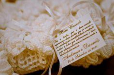 Para as noivas prendadas, bem casados no crochê
