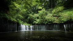 "Location : N 36°24'37.470"", E 138°35'32.676"" (Shiraito Falls) 白糸の滝、静岡県富士宮市上井出 日本を愛するタイ人の撮影した写真が美しすぎて完全にプロの犯行www"