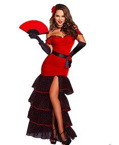 Spanish Flamenco Dancer luxury Halloween costume idea #halloween #costume #women #outfits