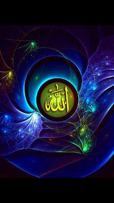 Allah Wallpaper, Islamic Wallpaper, Trendy Wallpaper, Wallpaper Backgrounds, Kaligrafi Allah, Allah Love, Abaya Pattern, Islamic Center, Allah Names