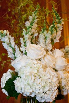 one of the floral arrangements from my wedding ceremony.