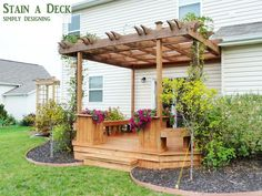 How to Stain a Deck and Pergola | #deck #stain #diy | @Simply Designing {Ashley Phipps}