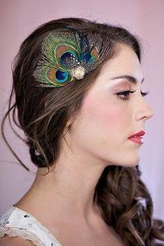 Bridesmaid Hair pieces(Purple instead of Blue) by keri