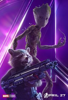 Marvel Avengers Groot and  poster #infinitywar