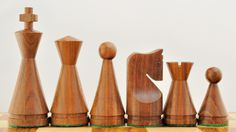 New Weighted Cone Shesham Wood Chess Set Pieces