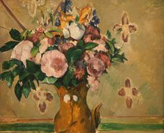 "terminusantequem: "" Paul Cézanne (French, - Vase of Flowers - oil on canvas, 47 x cm "" Cezanne Art, Paul Cezanne Paintings, Paul Cézanne, Art Floral, Klimt, Still Life Artists, Odilon Redon, Paintings Famous, Famous Artists"