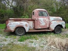 1950 Ford F-1  Looks like mine. Will restore mine to look like the other Ford F-1 or the Mercury M-47 on my board when I retire.