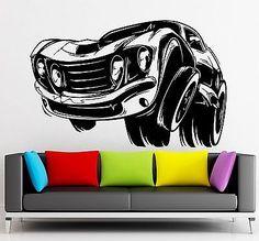 Wall Sticker Vinyl Decal Muscle Car Sports Race Garage Decor (ig2150)