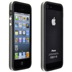 Black Perfect Fit Bumper Case for iPhone 5 - Clear Transparent Border Frame