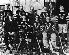 1915 Stanley Cup champion Vancouver Millionaires: (from left to right) Back row: Johnny Matz, Cyclone Taylor, Miller (trainer), Mickey McKay, Frank Nighbor. Vancouver Canucks, Hockey Games, Hockey Players, Montreal Canadiens, Nhl, Hockey Highlights, Back Row, Stanley Cup Champions, Detroit Red Wings