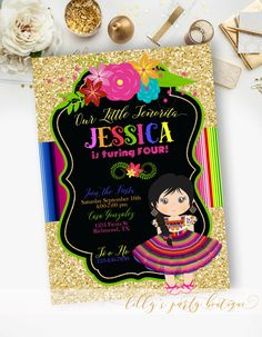 PRINTABLE Fiesta Mexican Birthday Mexican by LillysPartyBoutique