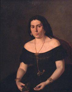 Prilidiano Pueyrredón (Argentine:1823-1870) - Portrait of a lady