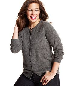 Charter Club Crew-Neck Cardigan, Only at Macy's | Shops, Sleeve ...